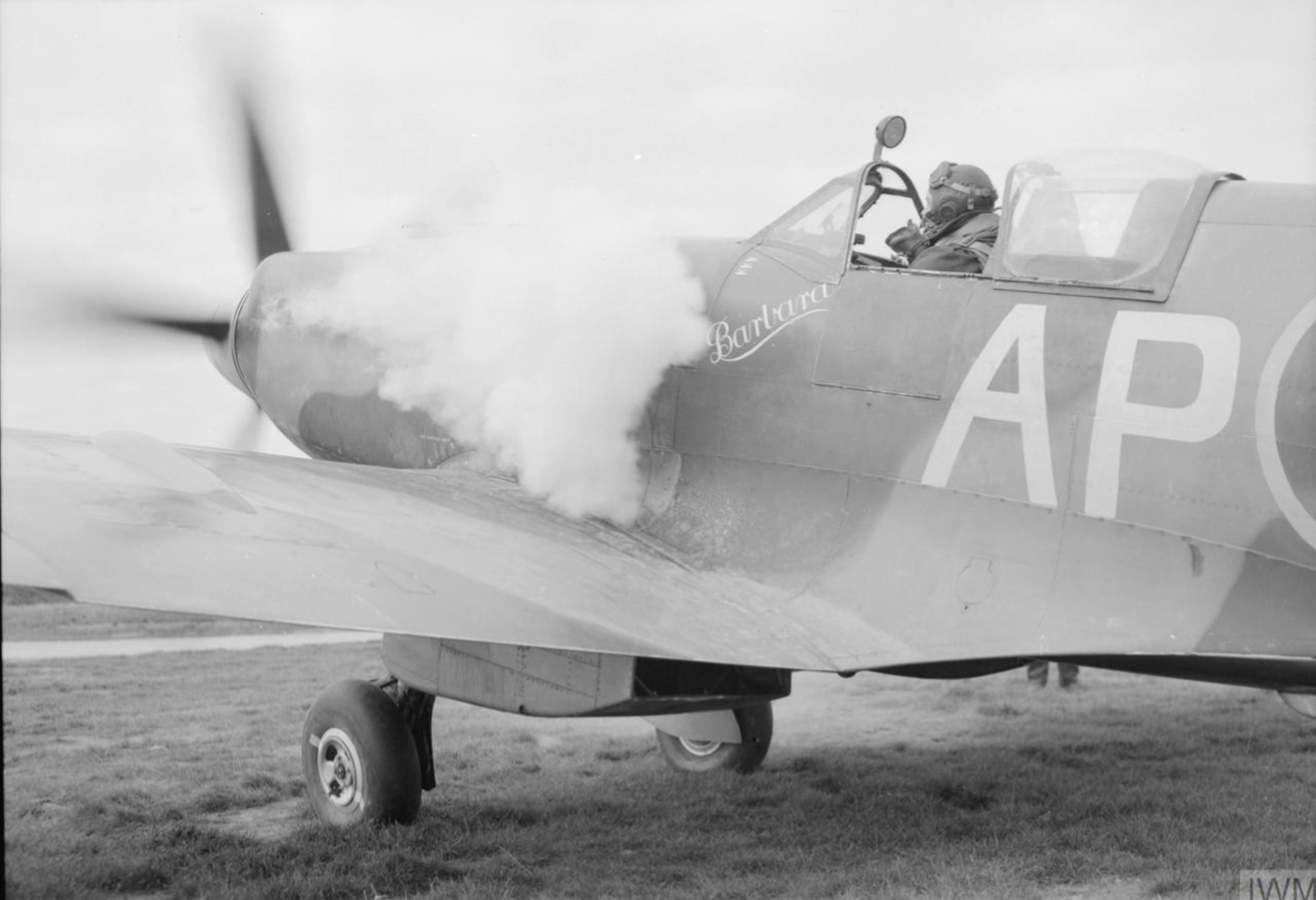 Spitfire XIVe RAF 350Sqn ex RAF 130Sqn AP at Lympne Kent IWM CL1354