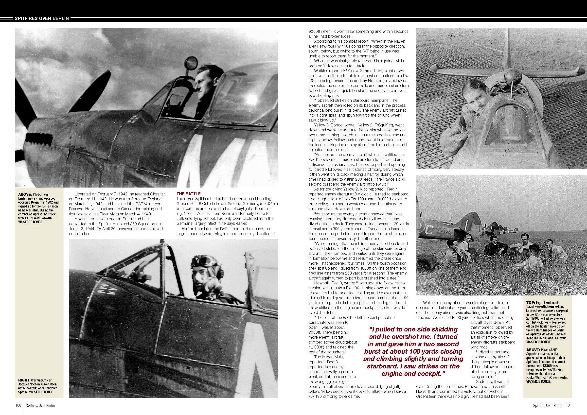 Spitfires over Berlin RAF 350Sqn pages 100 101