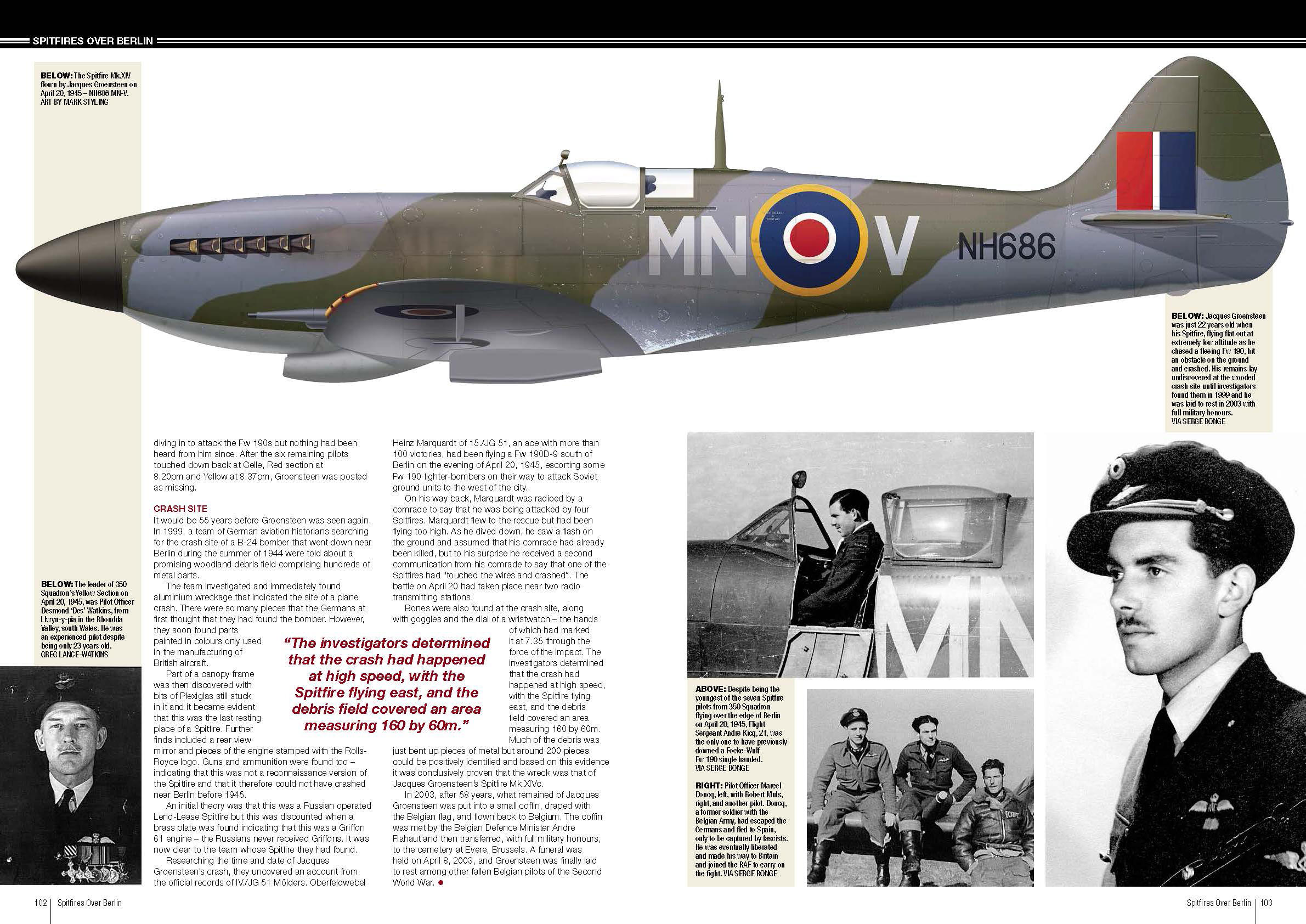Spitfires over Berlin RAF 350Sqn pages 102 103