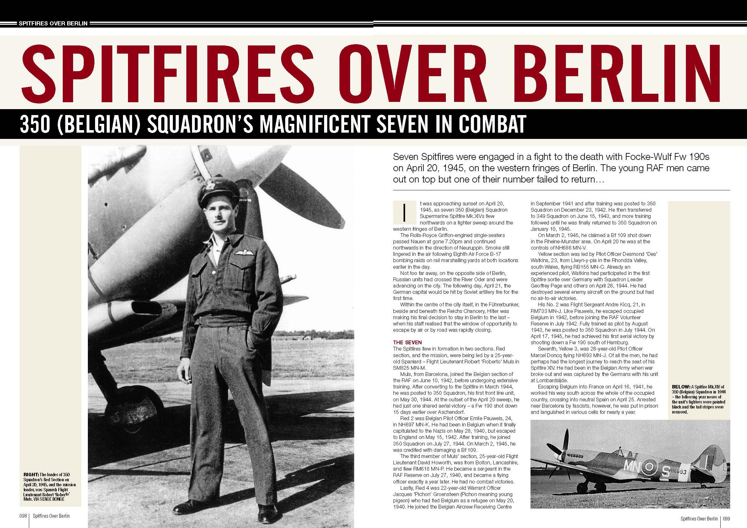 Spitfires over Berlin RAF 350Sqn pages 98 99