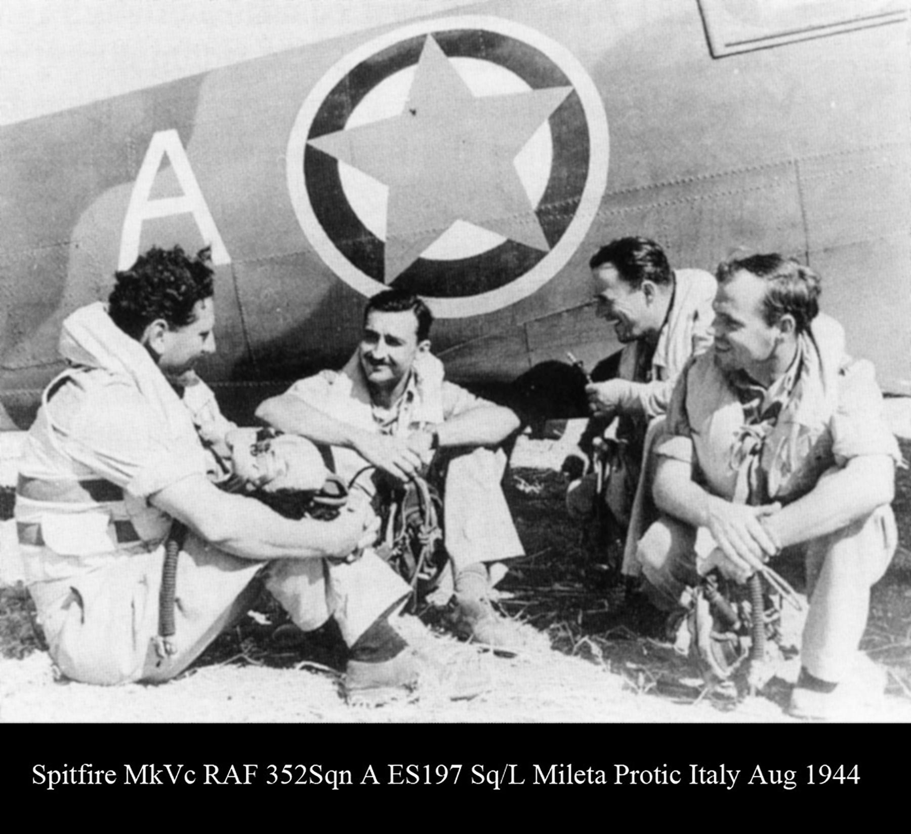 Spitfire MkVc RAF 352Sqn A ES197 Mileta Protic Italy Aug 1944 01