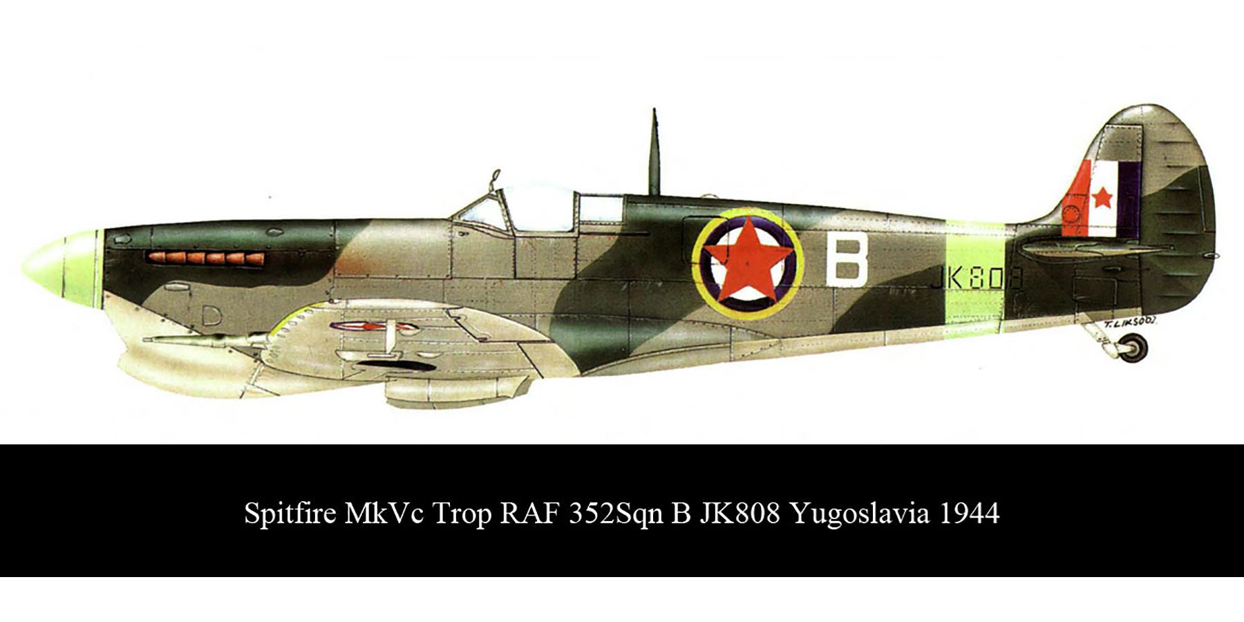 Spitfire MkVcTrop RAF 352Sqn B JK808 Yugoslavia 1944 00