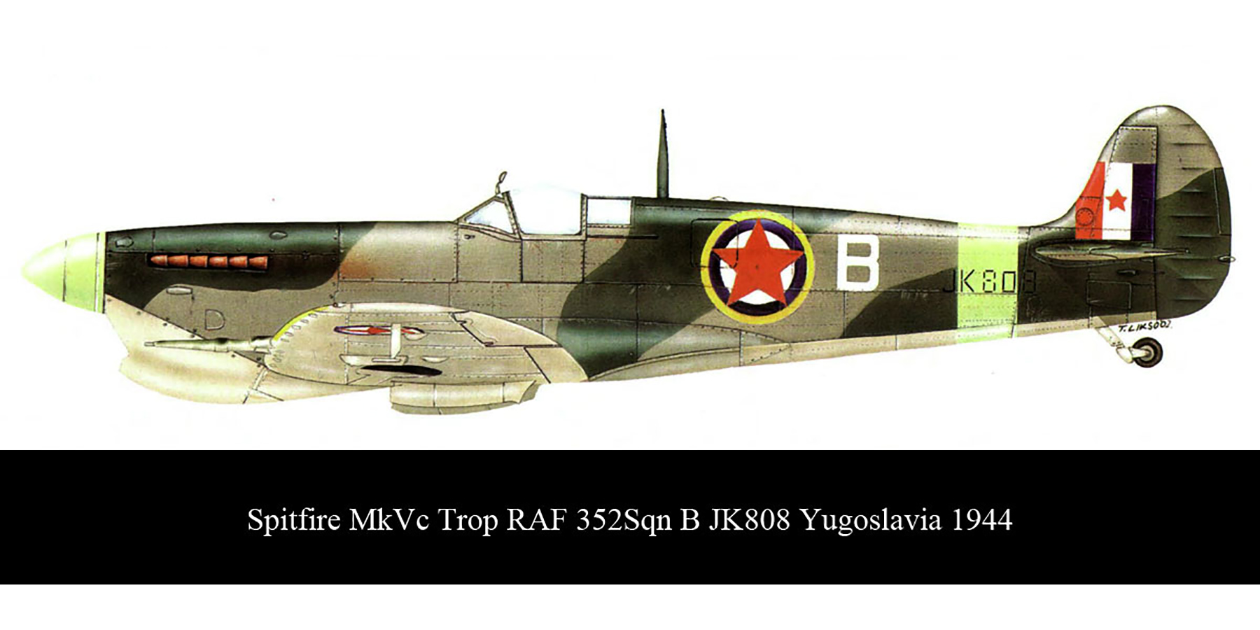 Spitfire MkVcTrop RAF 352Sqn B JK808 Yugoslavia 1944 0A