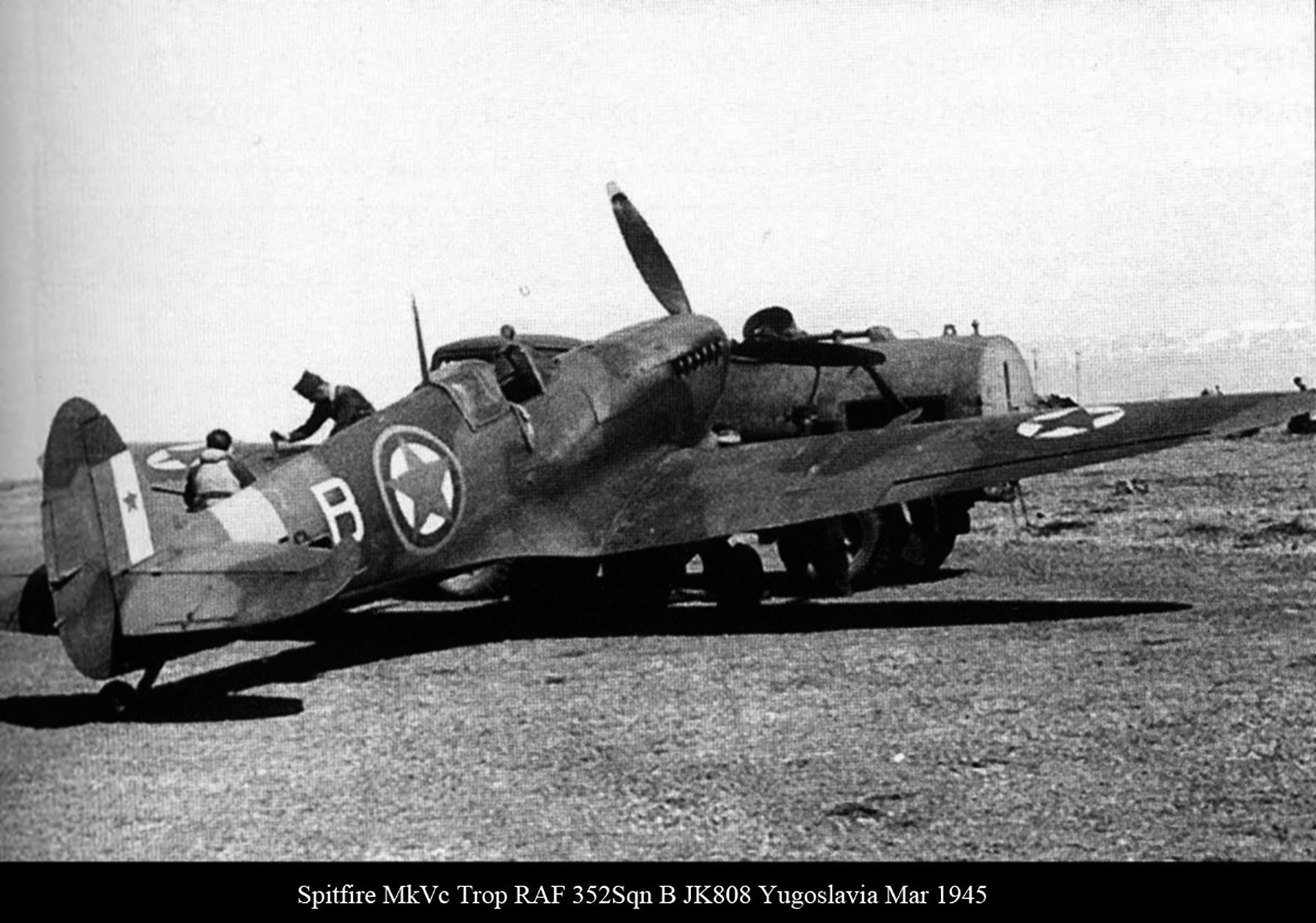 Spitfire MkVcTrop RAF 352Sqn B JK808 Yugoslavia Mar 1945 01