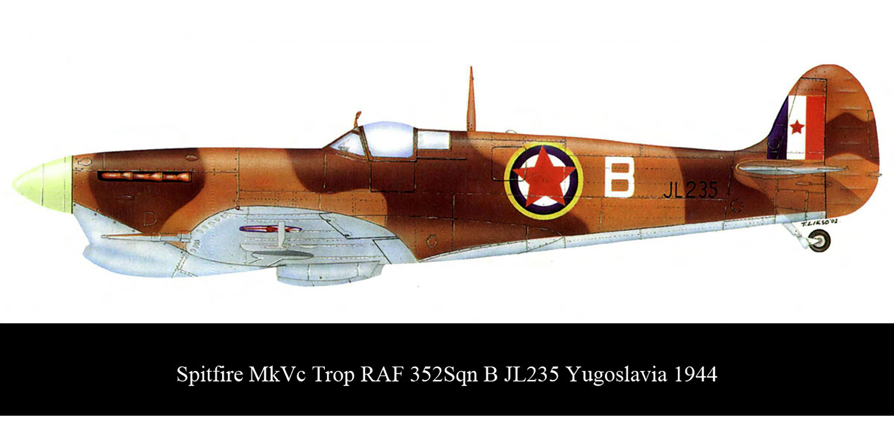 Spitfire MkVcTrop RAF 352Sqn B JL235 Yugoslavia 1944 0A
