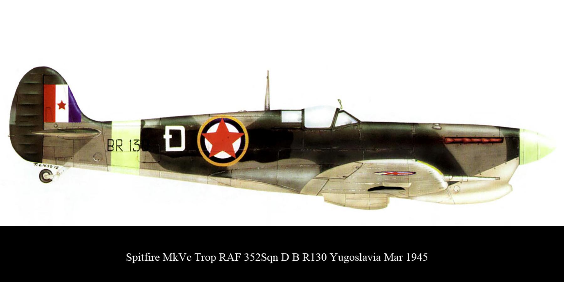 Spitfire MkVcTrop RAF 352Sqn D BR130 Yugoslavia Mar 1945 00