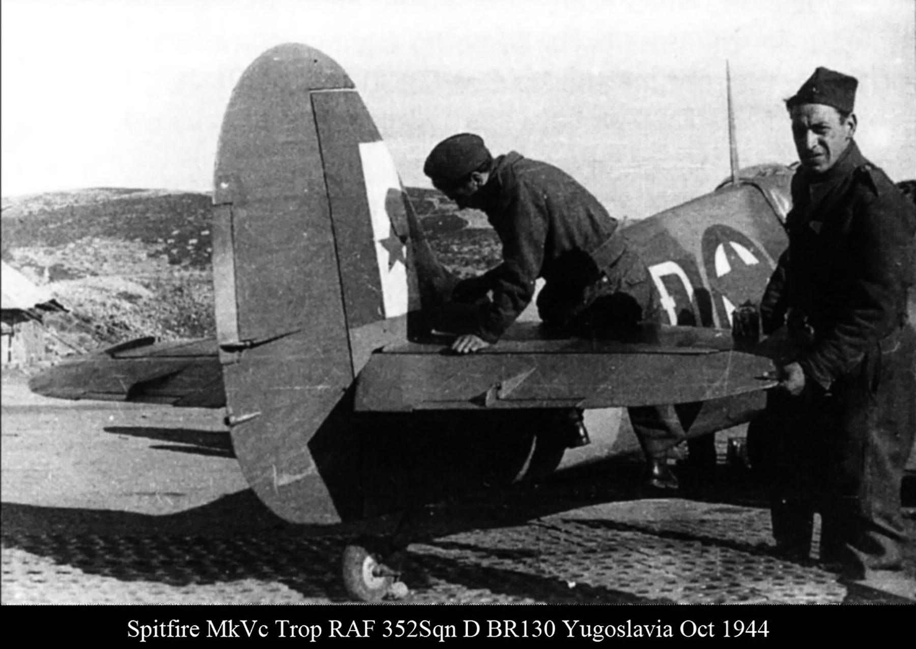 Spitfire MkVcTrop RAF 352Sqn D BR130 Yugoslavia Oct 1944 01