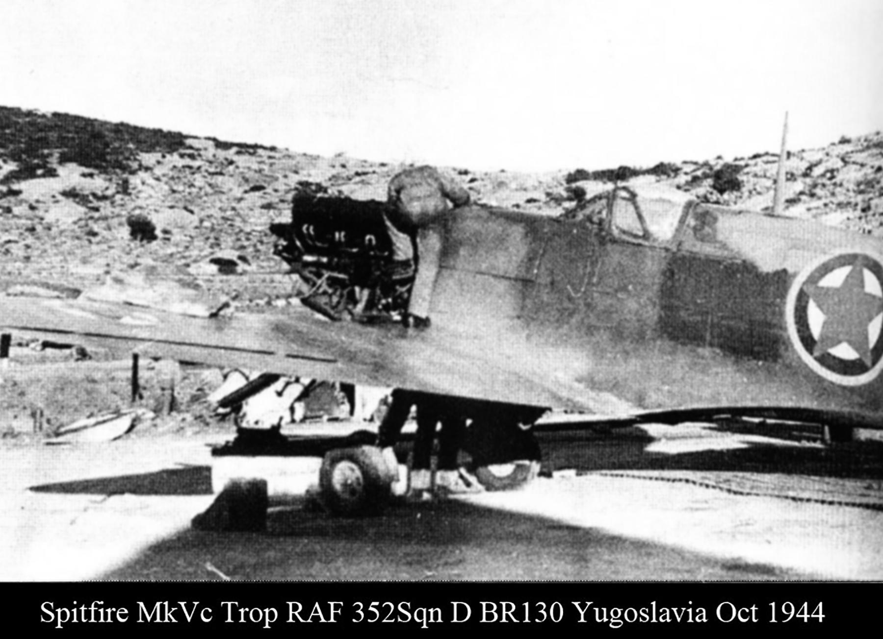 Spitfire MkVcTrop RAF 352Sqn D BR130 Yugoslavia Oct 1944 02