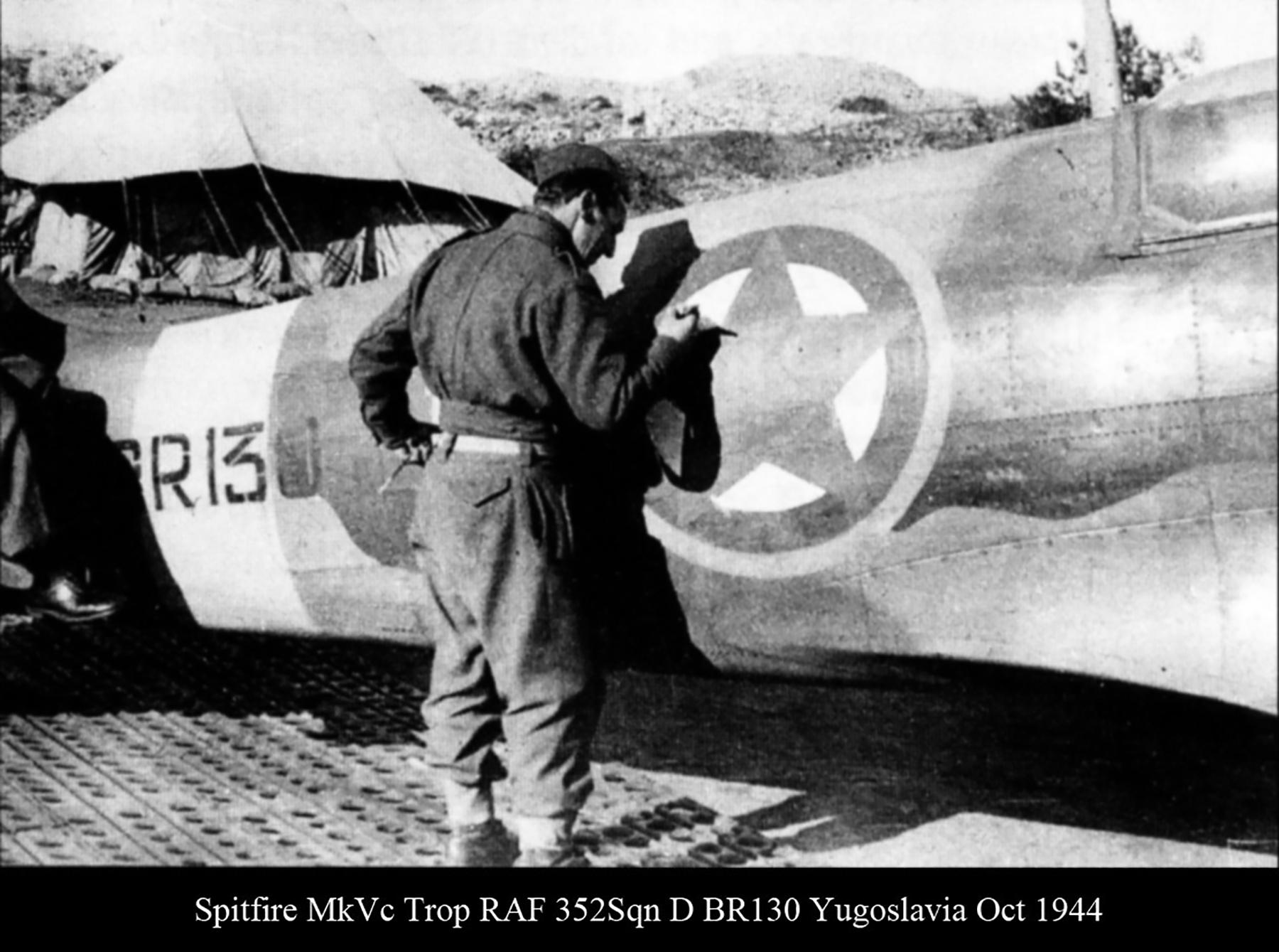 Spitfire MkVcTrop RAF 352Sqn D BR130 Yugoslavia Oct 1944 03