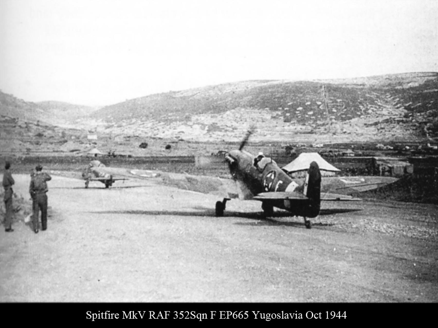 Spitfire MkVcTrop RAF 352Sqn F EP665 Yugoslavia Oct 1944 01