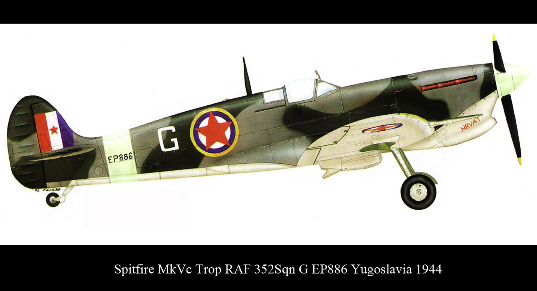 Spitfire MkVcTrop RAF 352Sqn G EP886 Yugoslavia 1944 0A