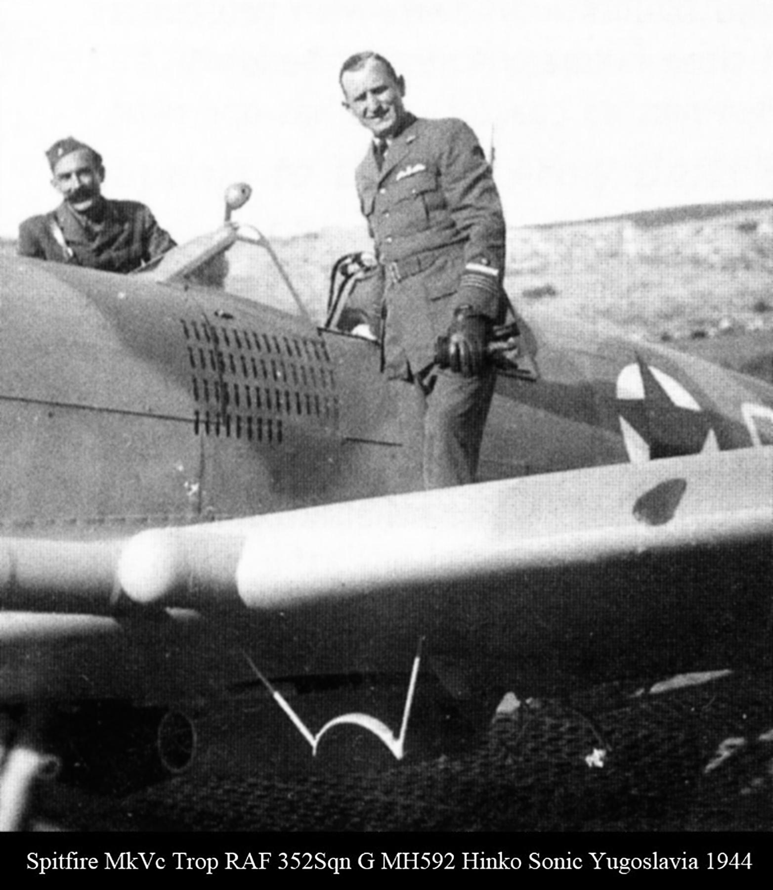 Spitfire MkVcTrop RAF 352Sqn G MH592 Hinko Sonic Yugoslavia 1944 01