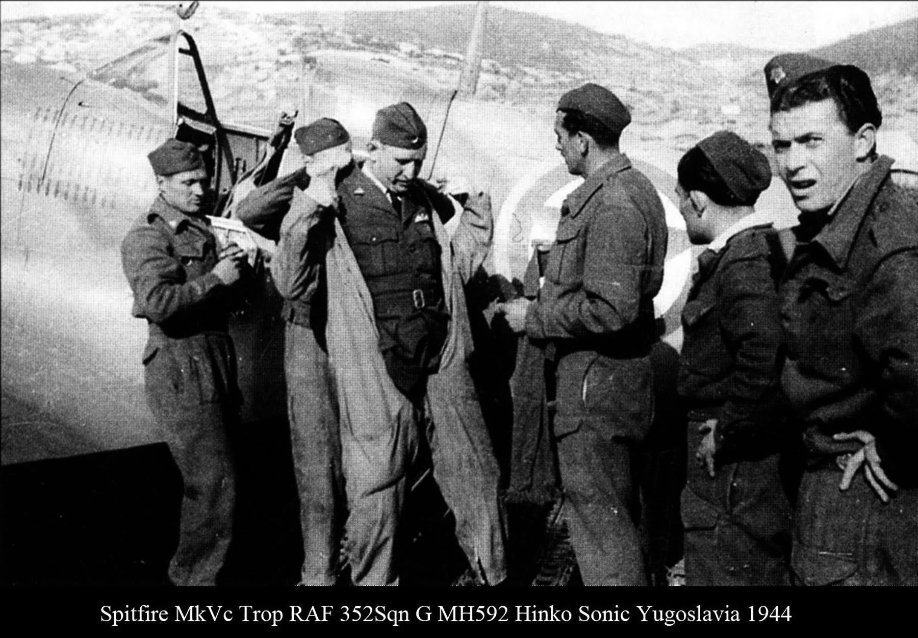 Spitfire MkVcTrop RAF 352Sqn G MH592 Hinko Sonic Yugoslavia 1944 03