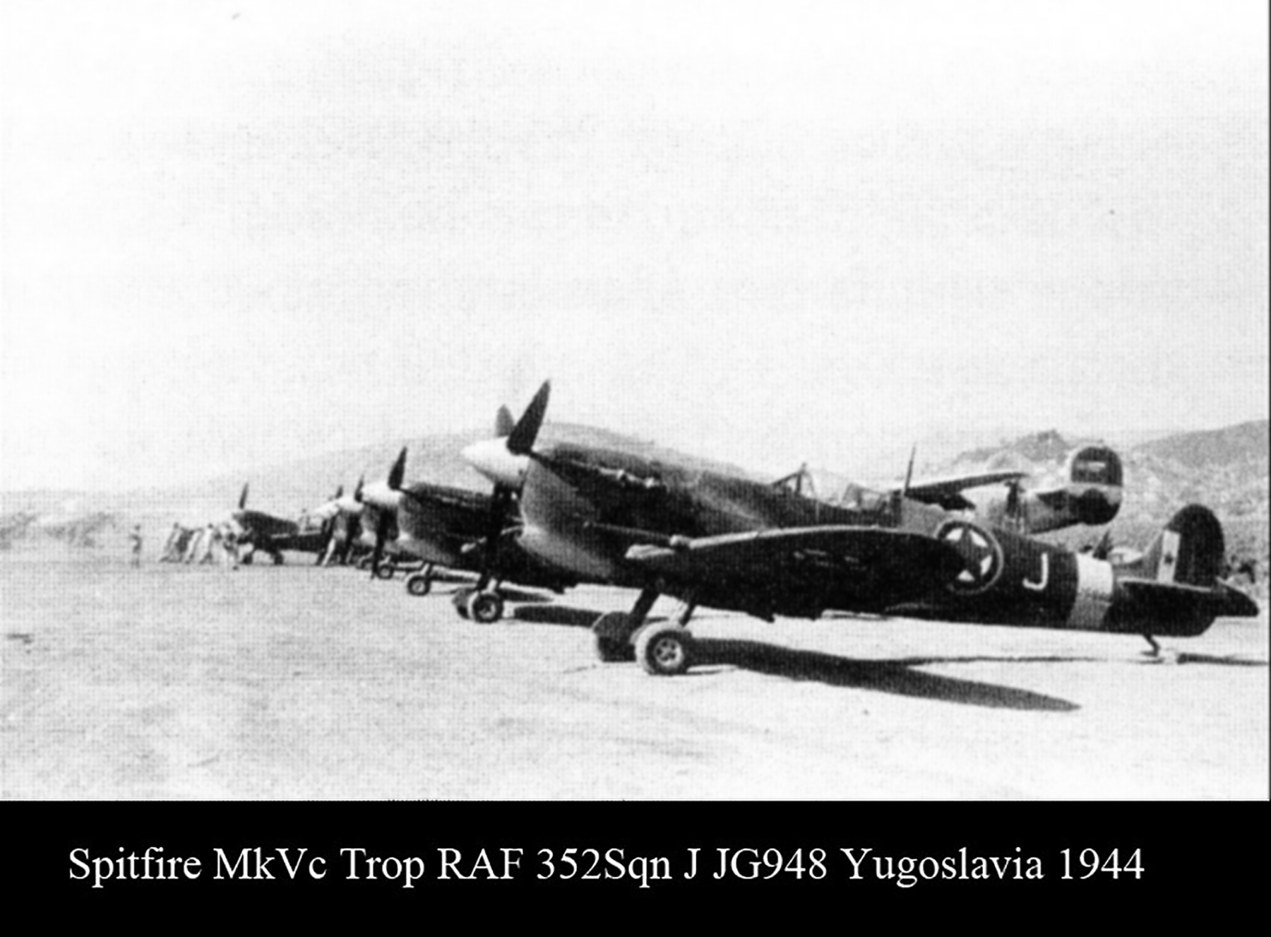 Spitfire MkVcTrop RAF 352Sqn J JG948 Yugoslavia 1944 01