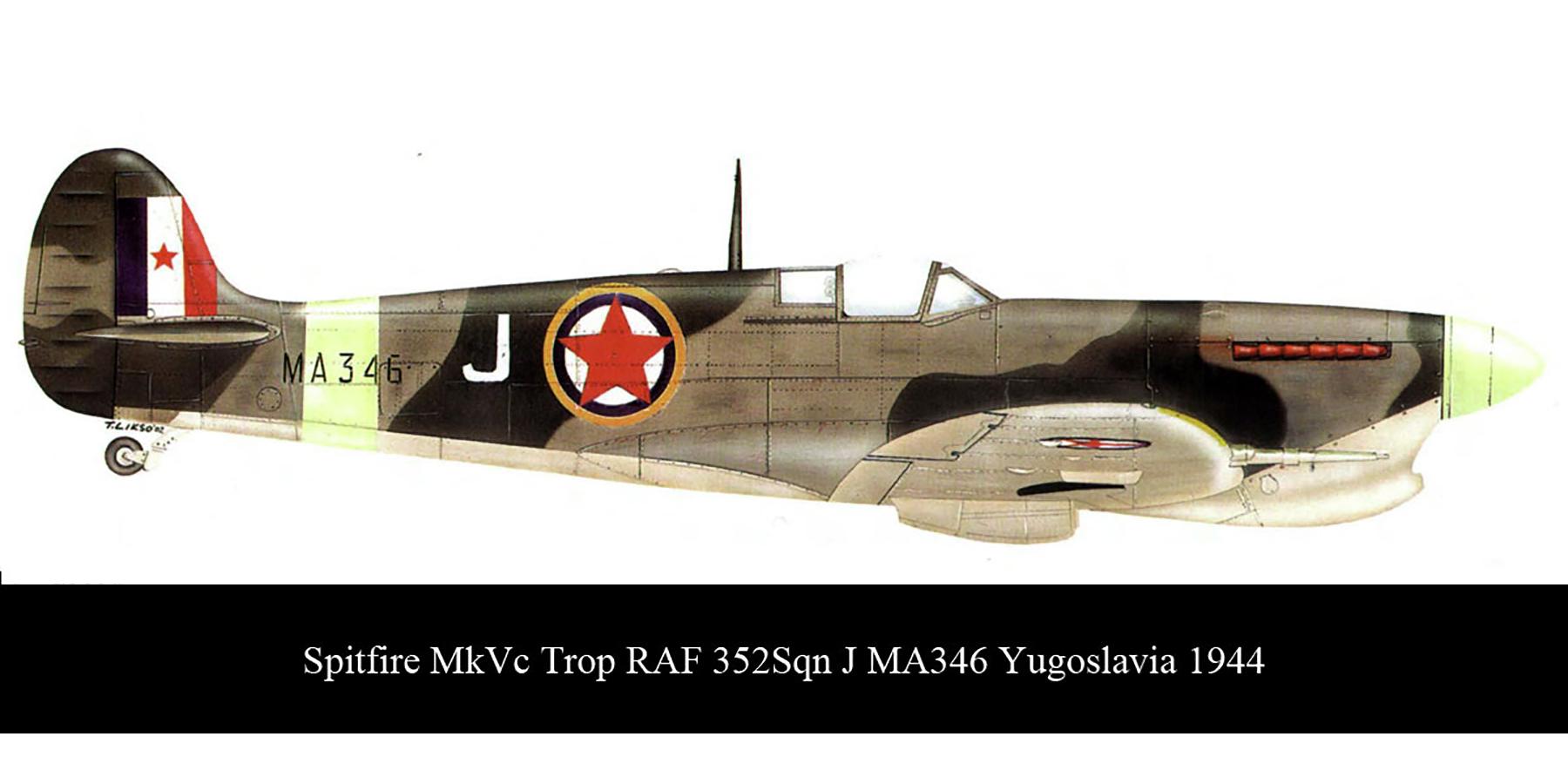Spitfire MkVcTrop RAF 352Sqn J MA346 Yugoslavia Mar 1945 00