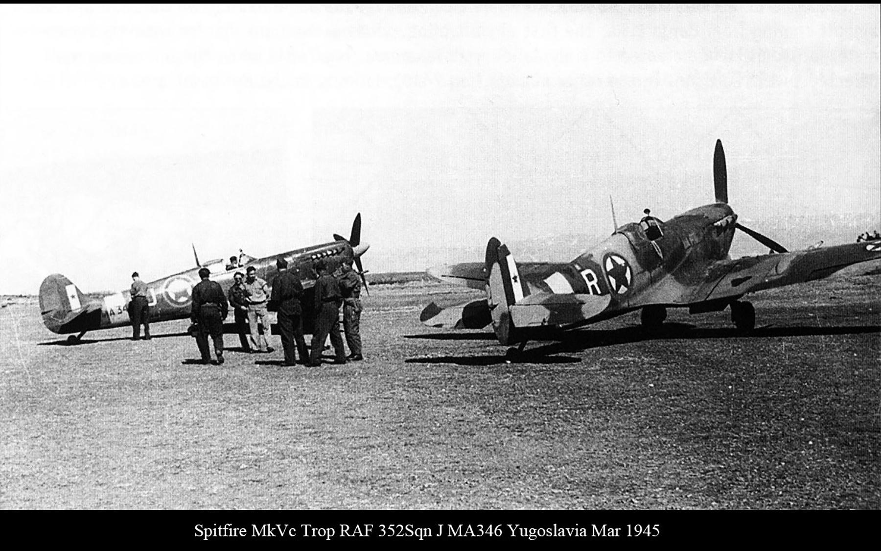 Spitfire MkVcTrop RAF 352Sqn J MA346 Yugoslavia Mar 1945 01