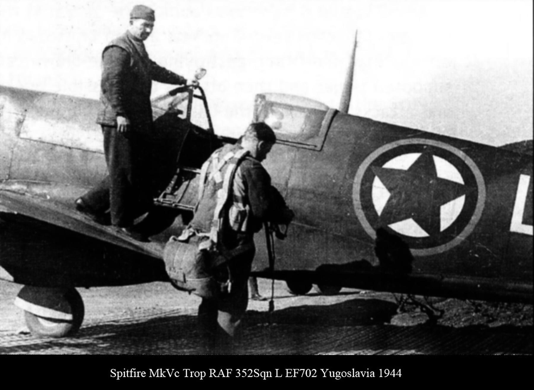 Spitfire MkVcTrop RAF 352Sqn L EF702 Yugoslavia 1944 02