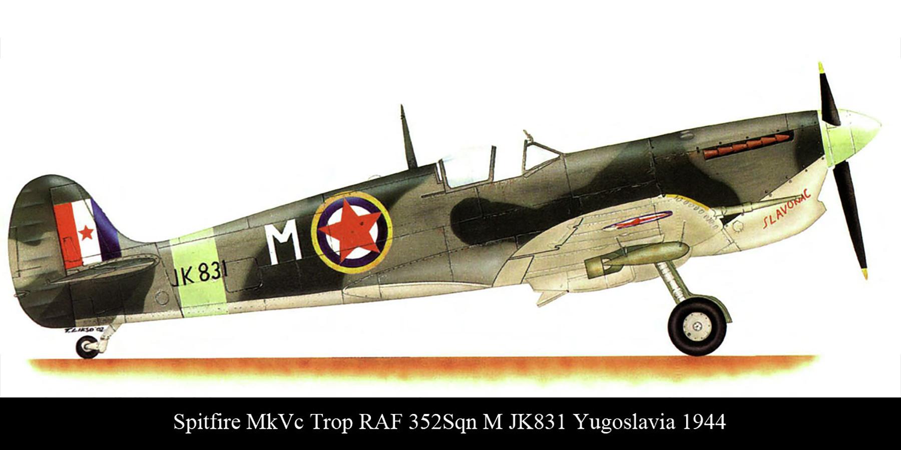 Spitfire MkVcTrop RAF 352Sqn M JK544 Yugoslavia Aug 1944 00