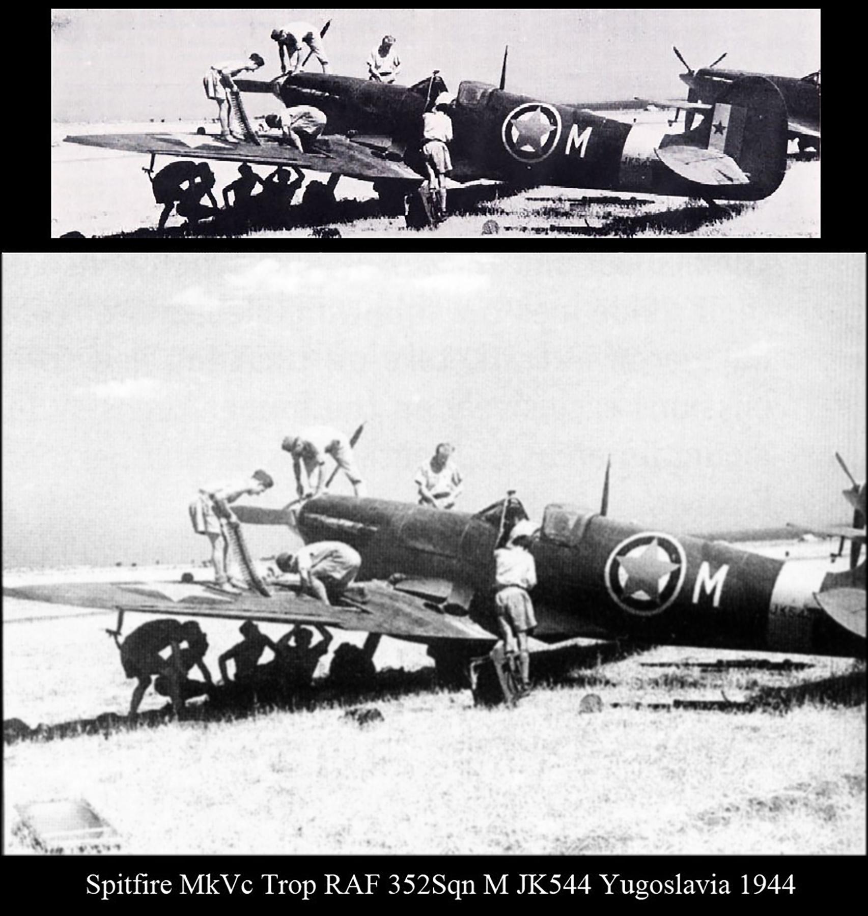 Spitfire MkVcTrop RAF 352Sqn M JK544 Yugoslavia Aug 1944 01