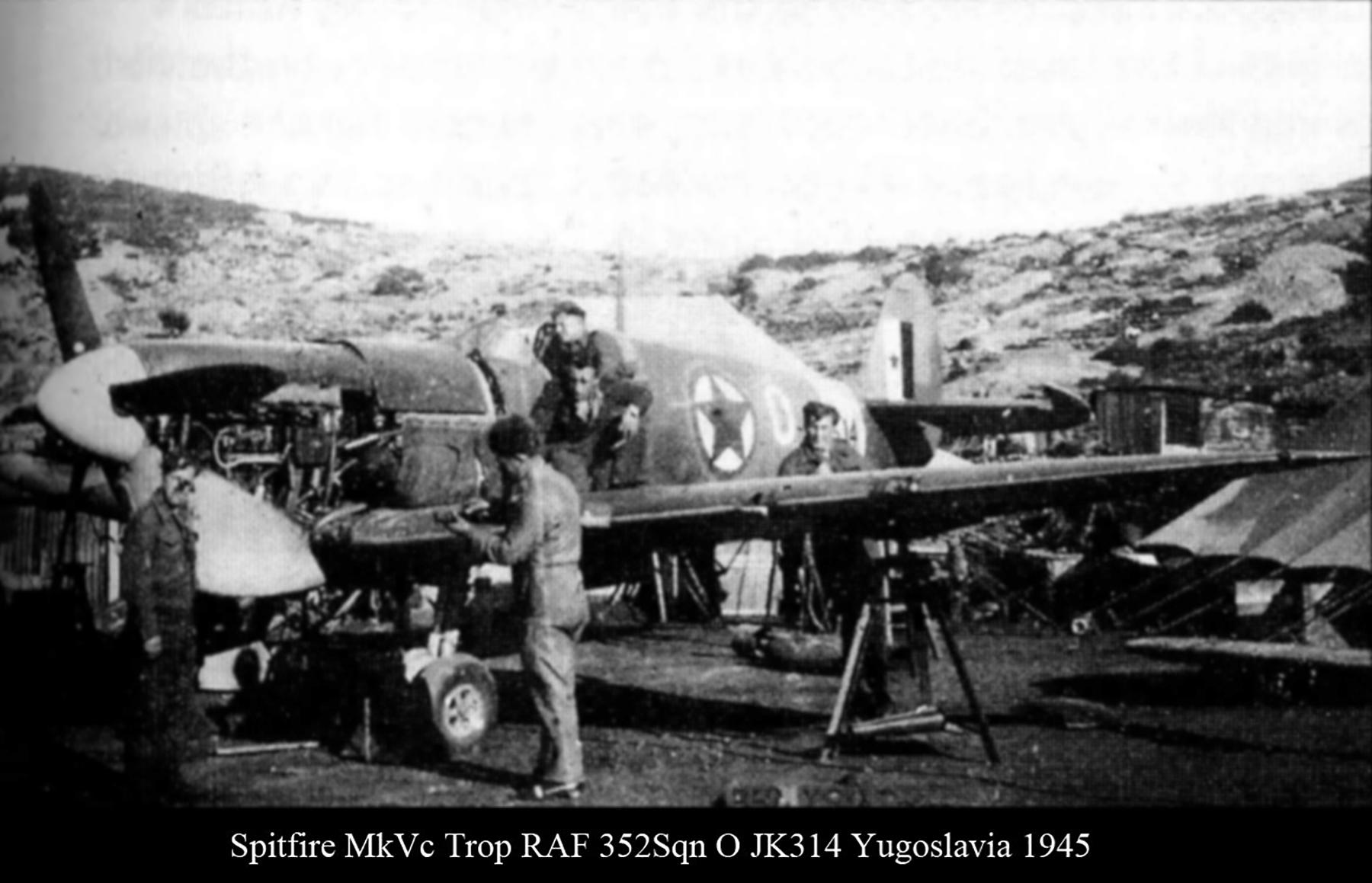 Spitfire MkVcTrop RAF 352Sqn O JK314 Yugoslavia 1945 02