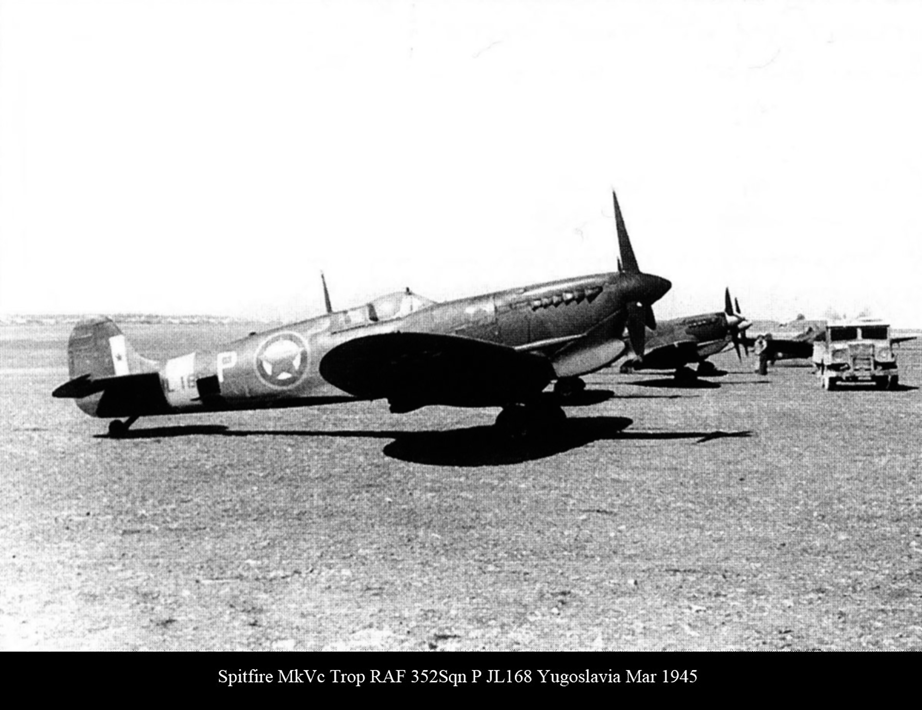 Spitfire MkVcTrop RAF 352Sqn P JL168 Yugoslavia Mar 1945 01