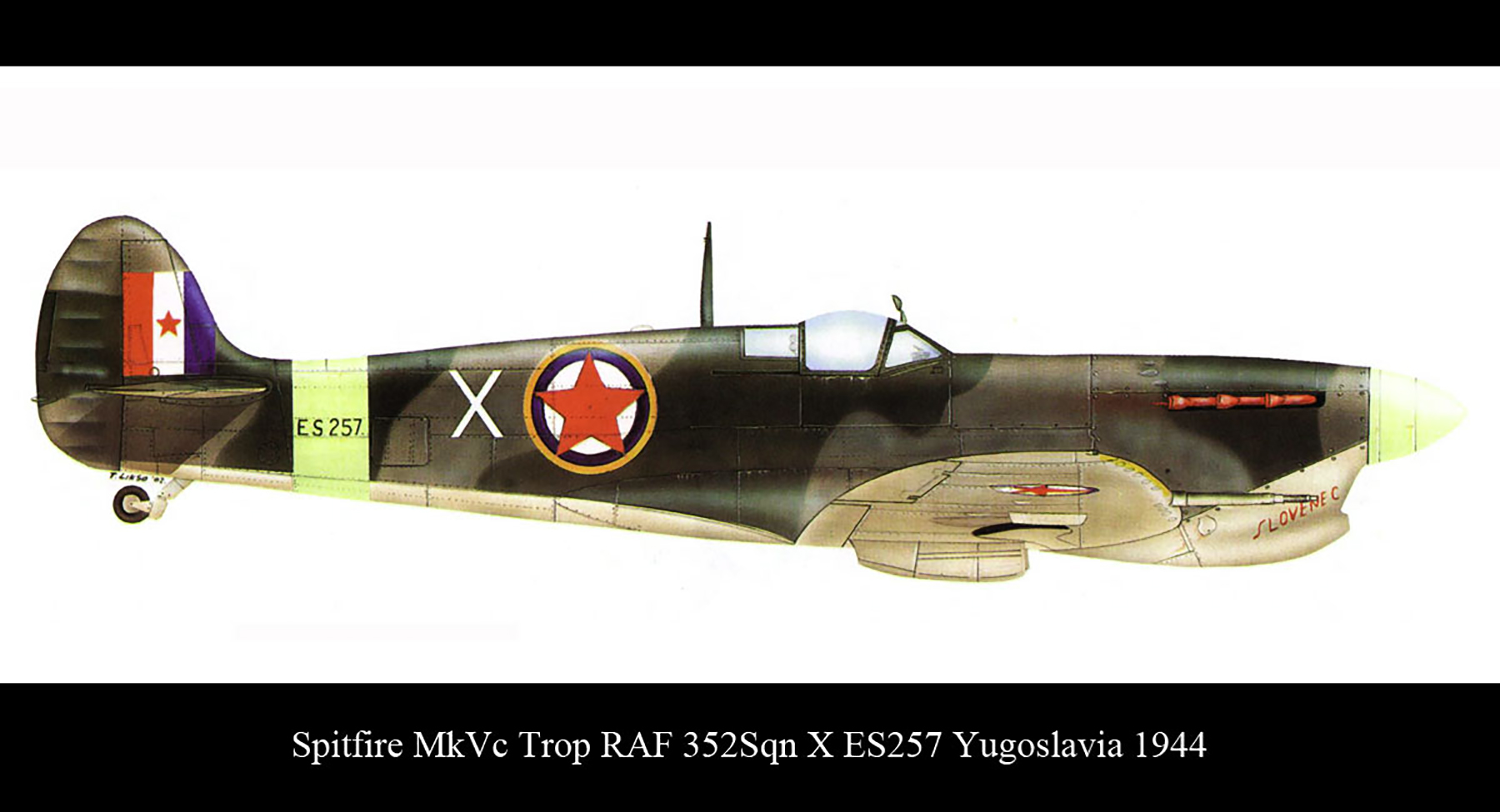 Spitfire MkVcTrop RAF 352Sqn X ES257 Canne Italy 1944 0A