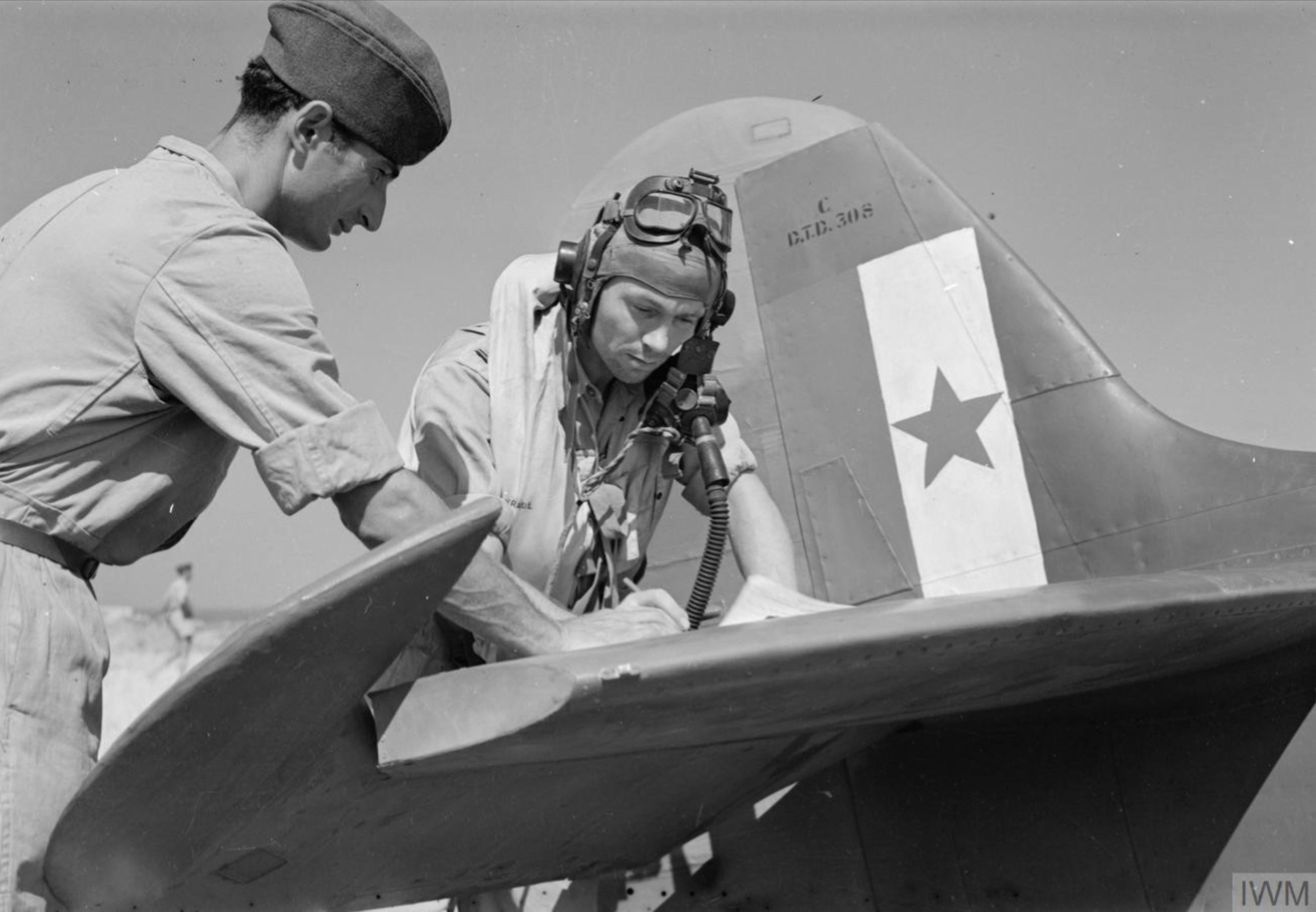 Spitfire MkVcTrop RAF 352Sqn Yugoslavia Dec 1944 IWM CNA3099