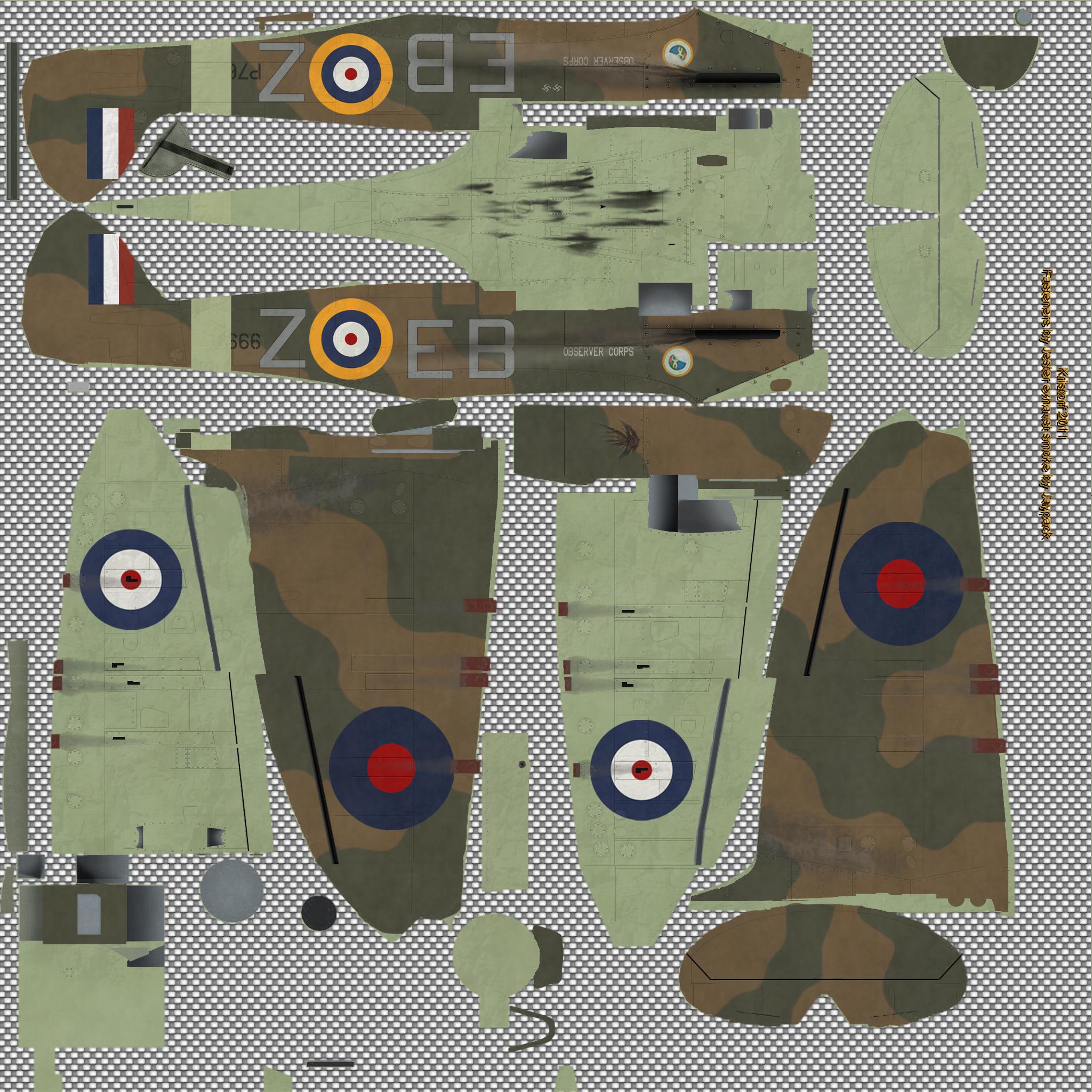 COD KF MkIIa RAF 41Sqn EBZ Jack Stokoe P7666 England 1941