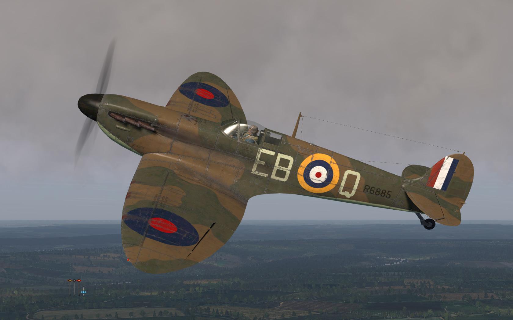 COD KF MkIa RAF 41Sqn EBQ Eric Lock R6885 England 1940 V0A