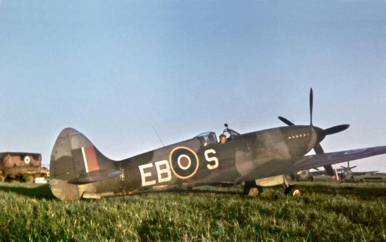 Spitfire XIVe RAF 41Sqn EBS part of 125 Wing at Kastrup Copenhagen Denmark 1945 01
