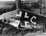 Asisbiz Hans Kettling crash landed near Barnard Castle and set his aircraft alight before capture 15th Aug 1940 02