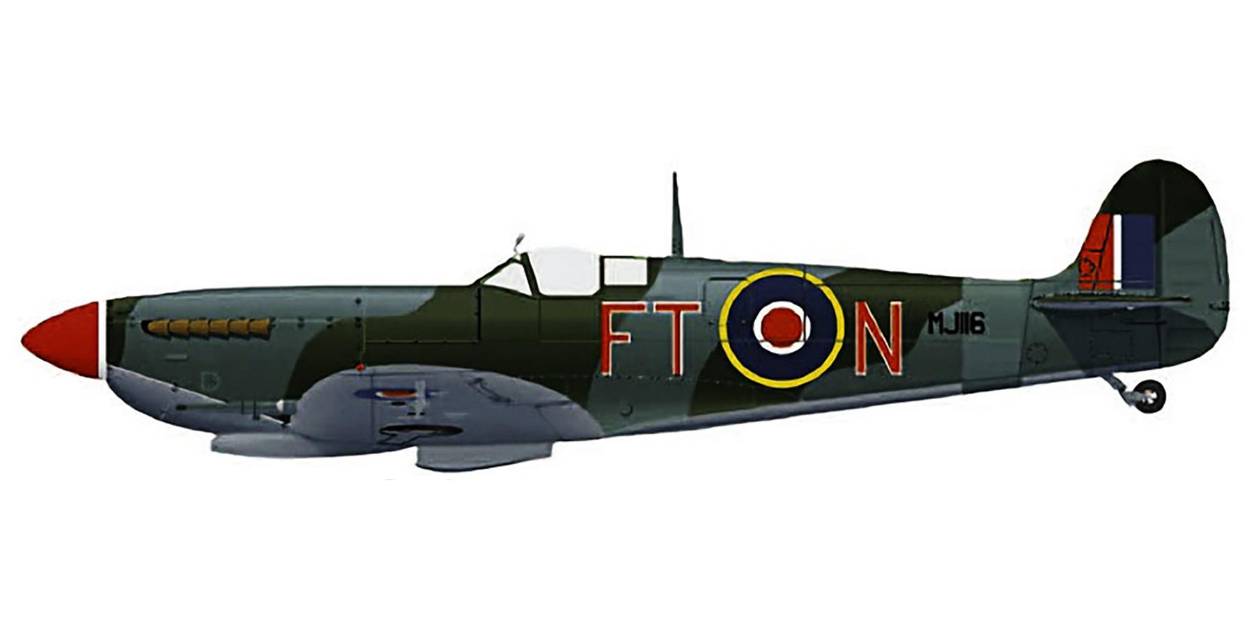 Spitfire LFIX RAF 43Sqn FTN MJ116 France 1944 0A