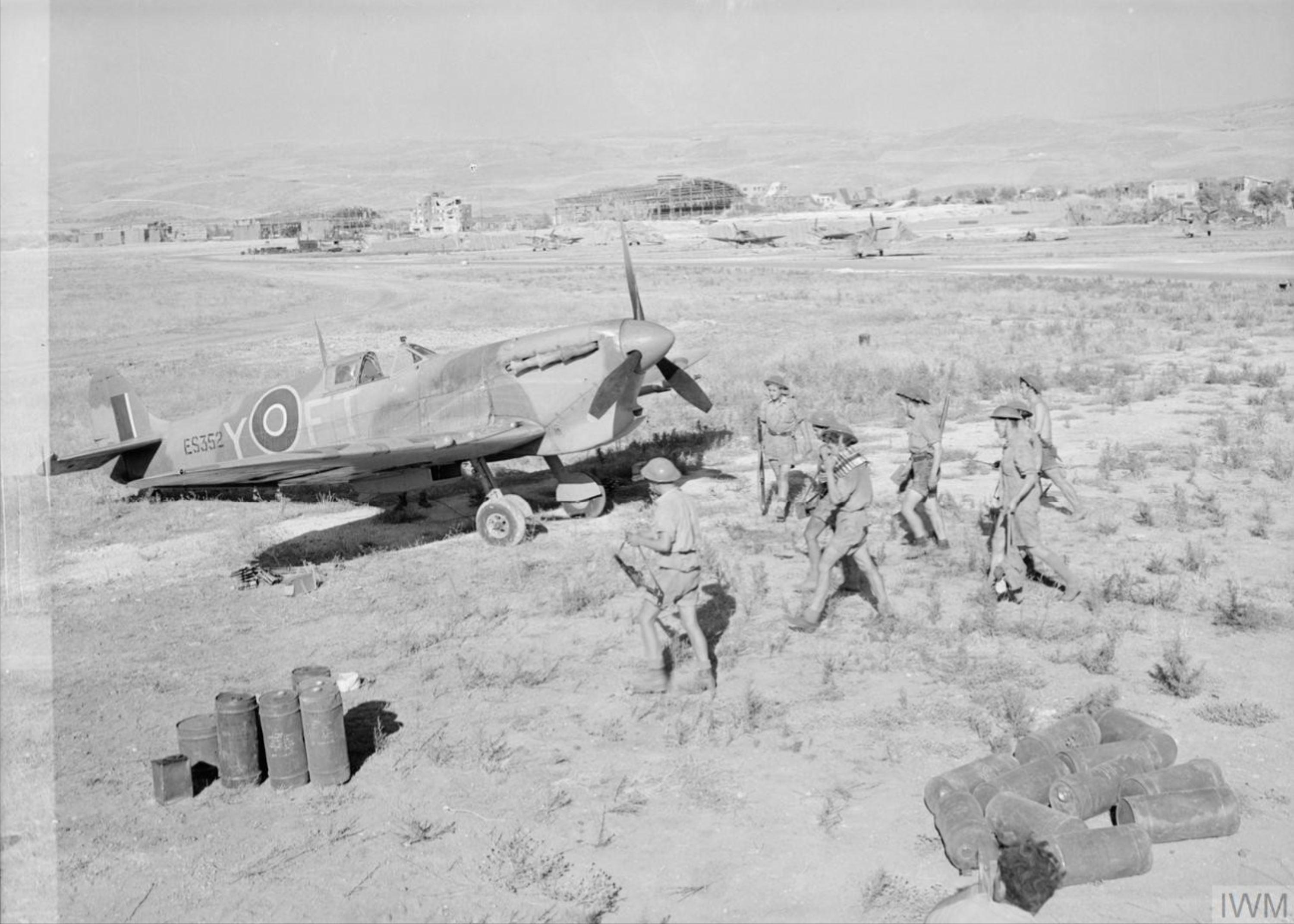 Spitfire MkVcTrop RAF 43Sqn FTY ES352 at Comiso Sicily IWM CNA1056