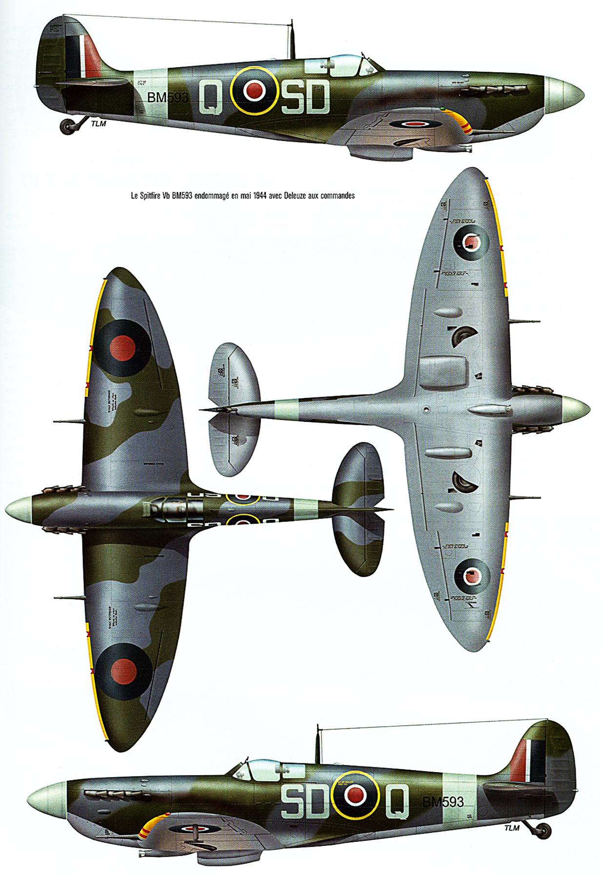 Spitfire MkVb RAF 501Sqn SDQ BM593 Dec 1944 0A