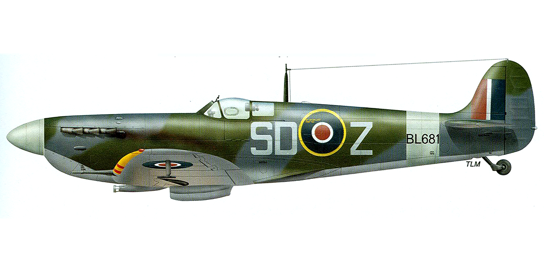 Spitfire MkVb RAF 501Sqn SDZ BL681 Dec 1943 0A