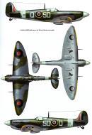 Asisbiz Spitfire MkVb RAF 501Sqn SDQ BM593 Dec 1944 0A