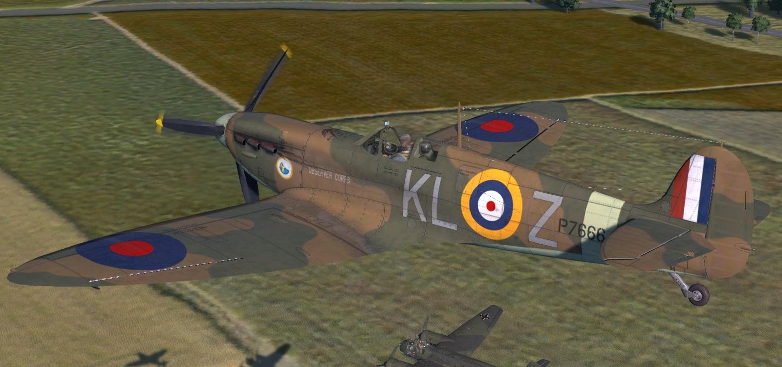 COD KF MkIIa RAF 54Sqn KLZ Don Finlay P7666 Hornchurch 1940 V0C