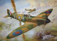 Asisbiz Painting by Roy Cross Spitfire MkI RAF 54Sqn PO Al Deere for Airfax Superkit 0B