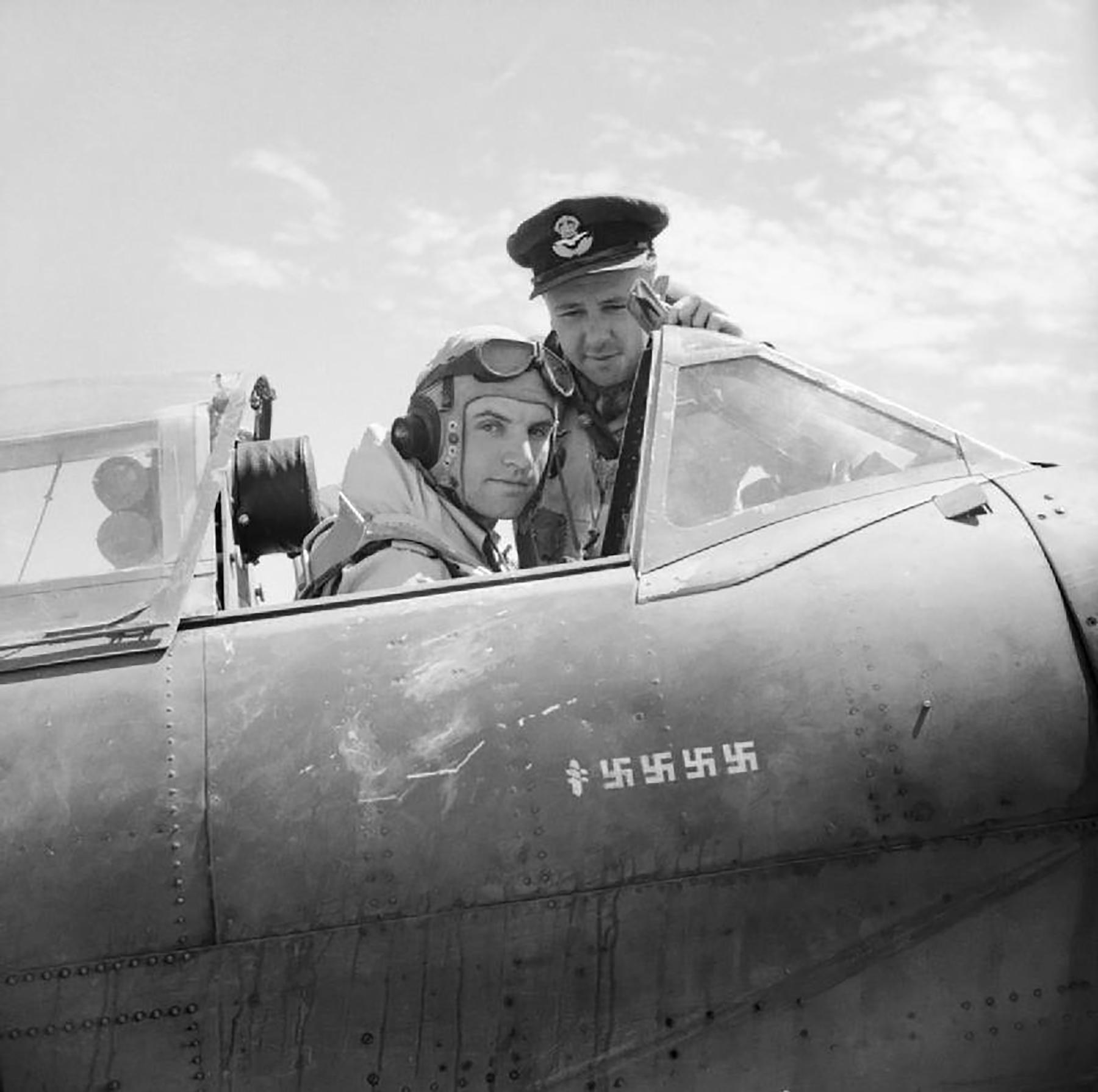 Spitfire MkVcTrop RAF 601Sqn Dennis Barnham Luqa Malta June 1942 IWM 1001