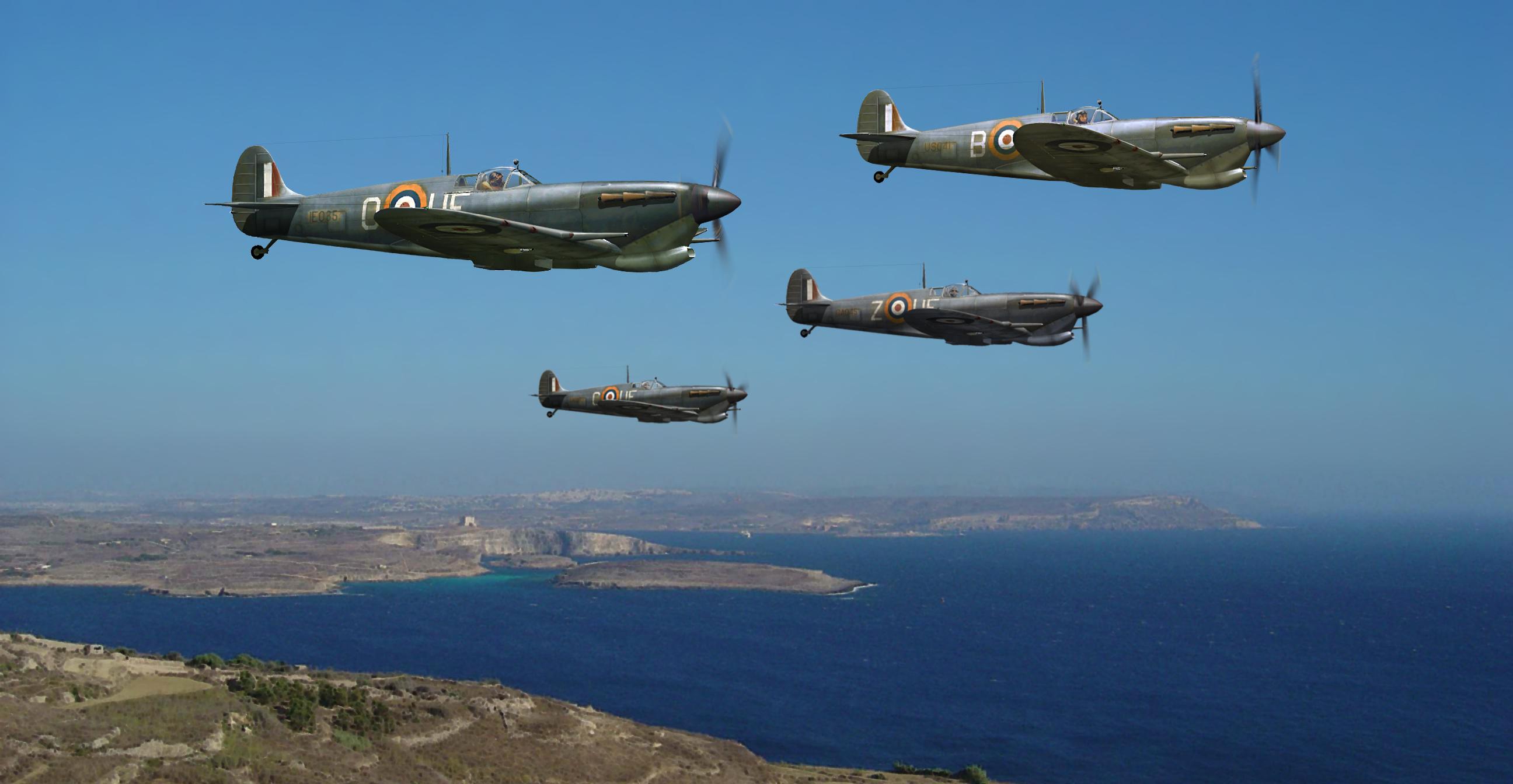 Spitfire MkVcTrop RAF 601Sqn Malta patrol 0A