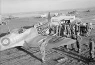 Asisbiz Spitfire MkVc RAF 601Sqn dispersal at Canne Italy IWM CNA2260