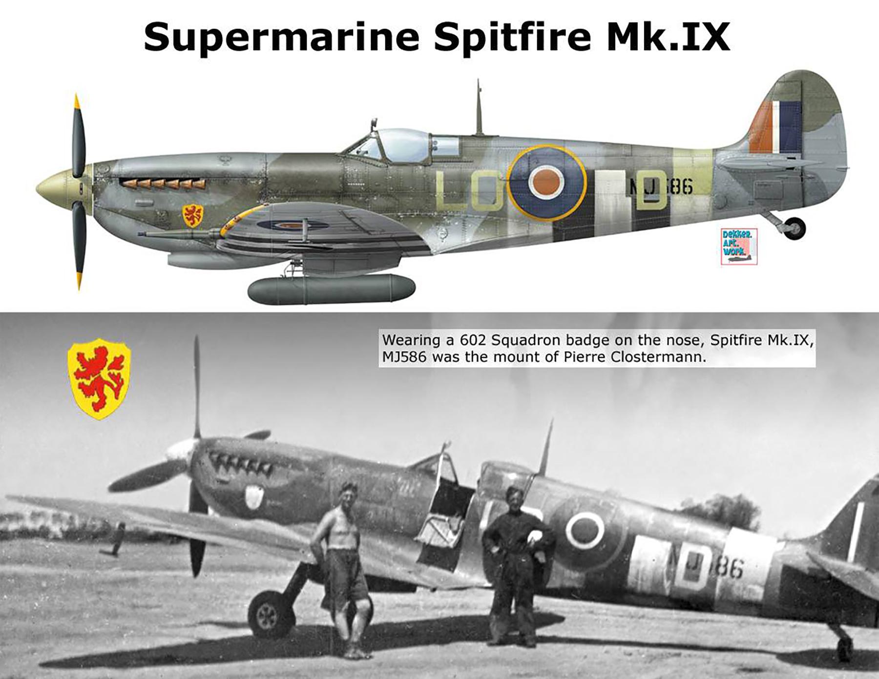 Spitfire LFIX RAF 602Sqn LOD Pierre Clostermann MJ586 Longues sur Mer 7th Jul 1944 0C