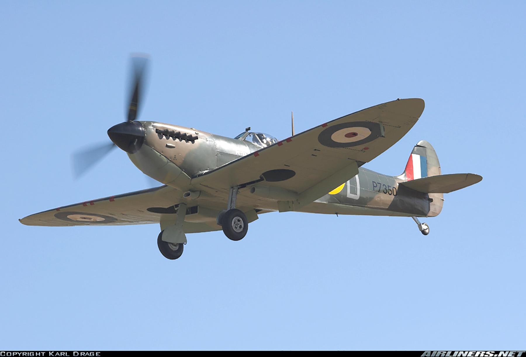 Airworthy Spitfire warbird RAF 603Sqn XTD P7350 09