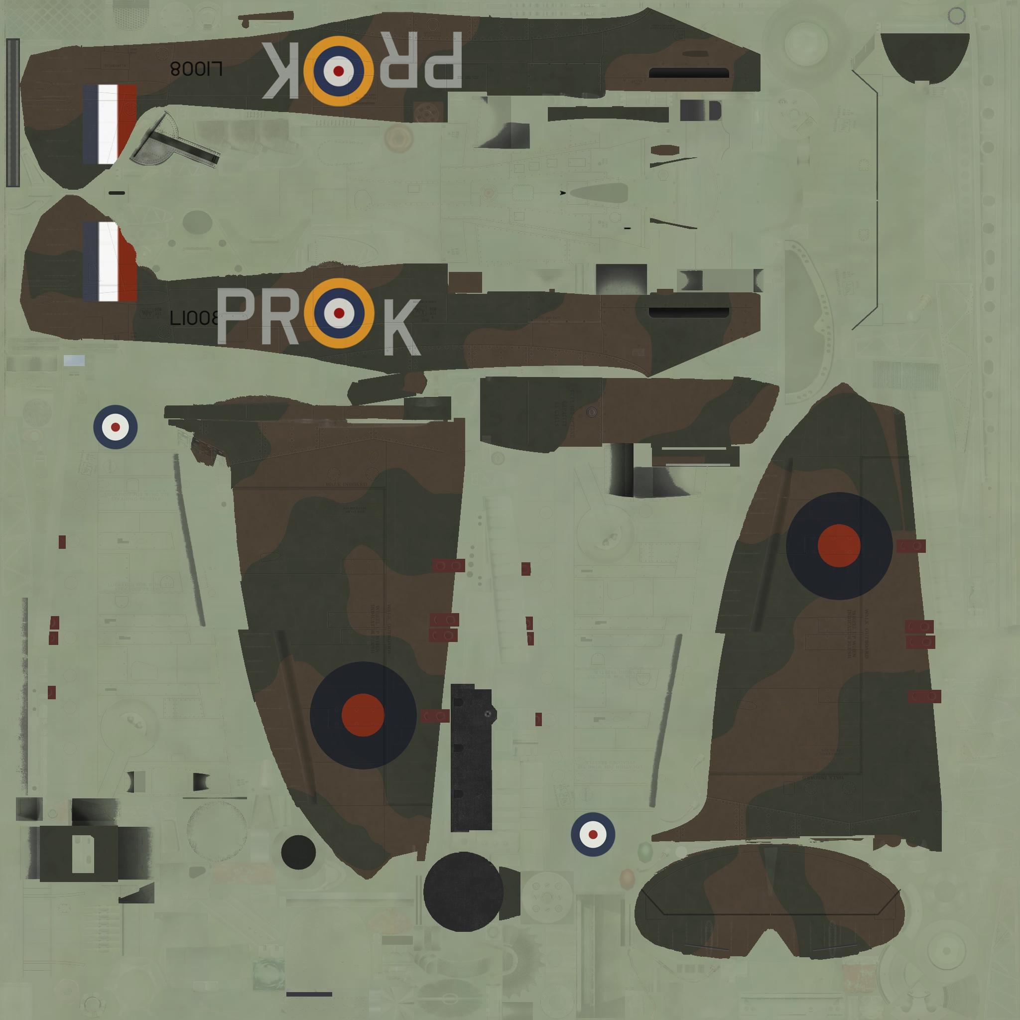 COD C6 MkI RAF 609Sqn PRK L1008 Middle Wallop 1940