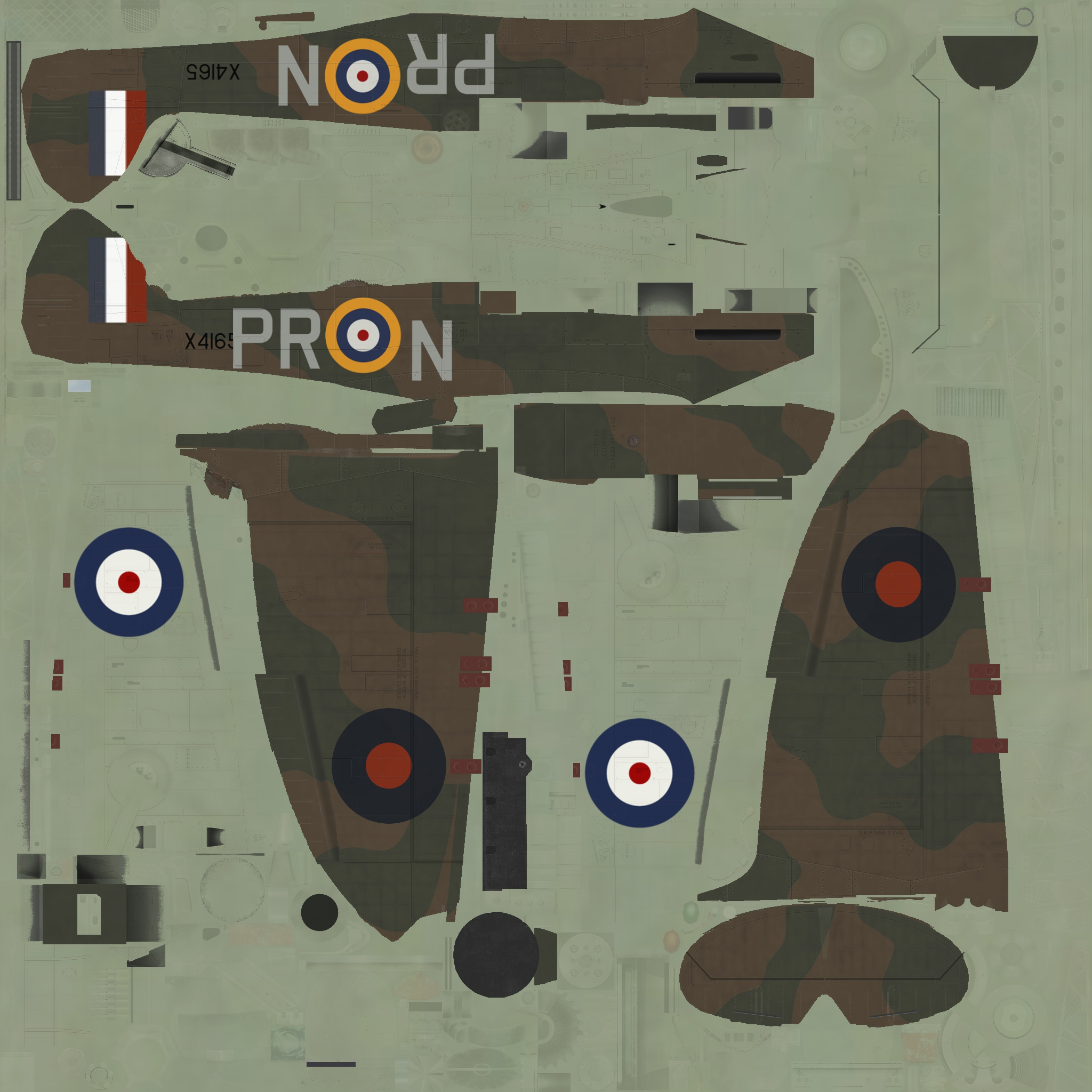 COD C6 MkI RAF 609Sqn PRN X4165 Middle Wallop 1940