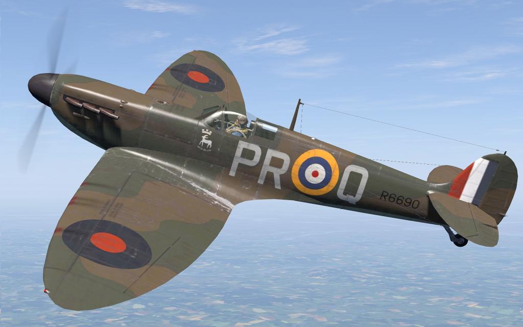 COD C6 MkI RAF 609Sqn PRQ John Dundas R6690 Middle Wallop 1940 V0A