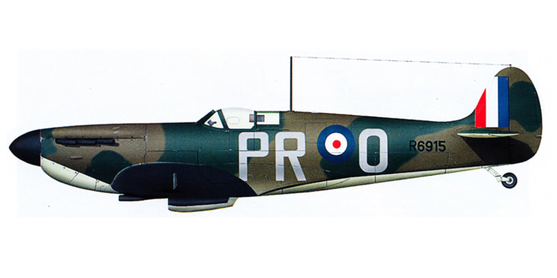Spitfire MkIa RAF 609Sqn PRO R6915 Middle Wallop July 1940 0A