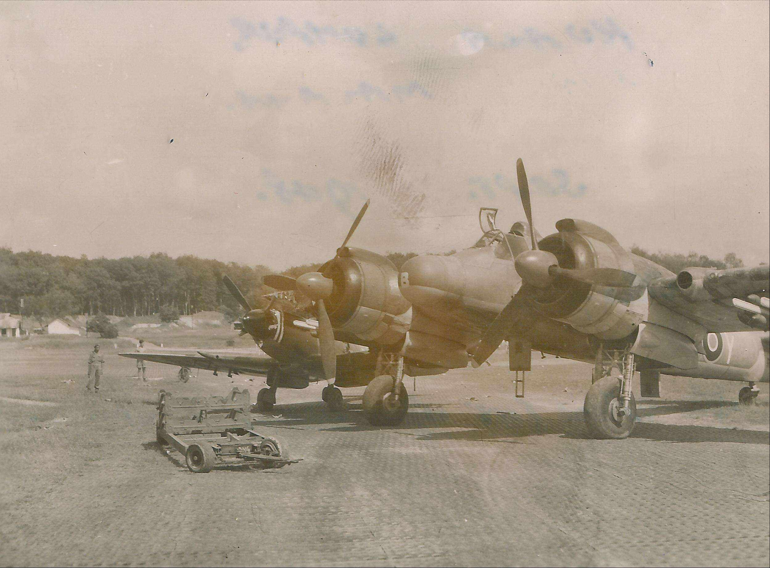 Spitfire XVIII RAF 60Sqn TP222 and Beaufighter RD863 prop strike accident 03