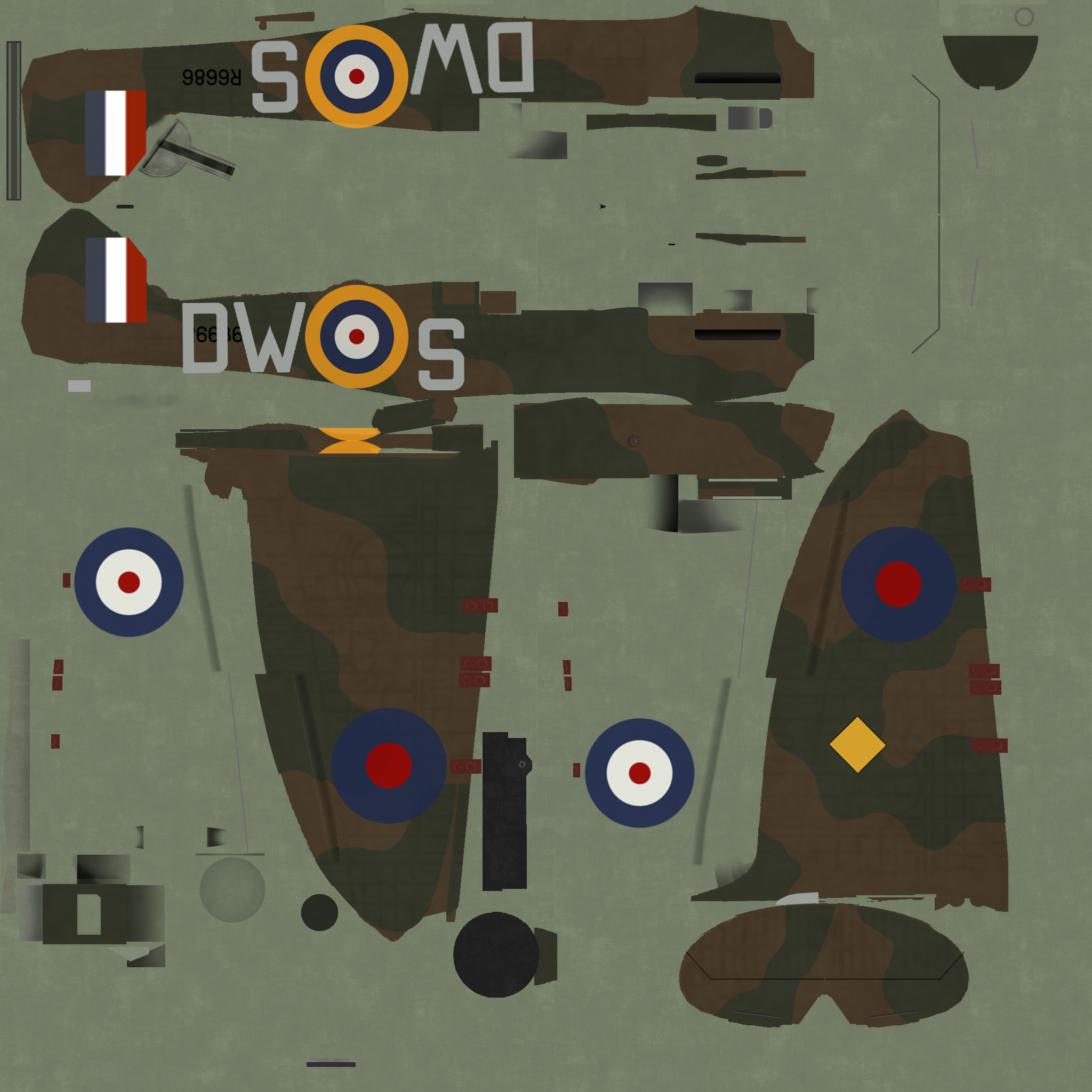 COD C6 MkI RAF 610Sqn DWS Arnfield R6686 Chester England 1940