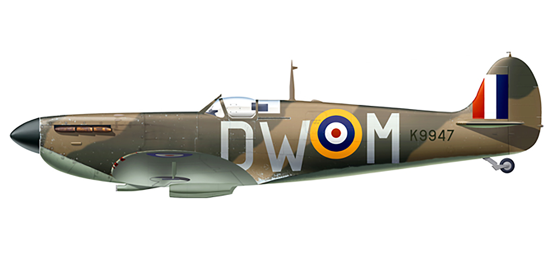 Spitfire MkIa RAF 610Sqn DWM K9947 Battle of Britain 1940 0A